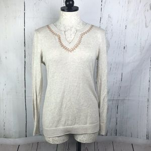Gap Embroidered 100 Cotton Sweater